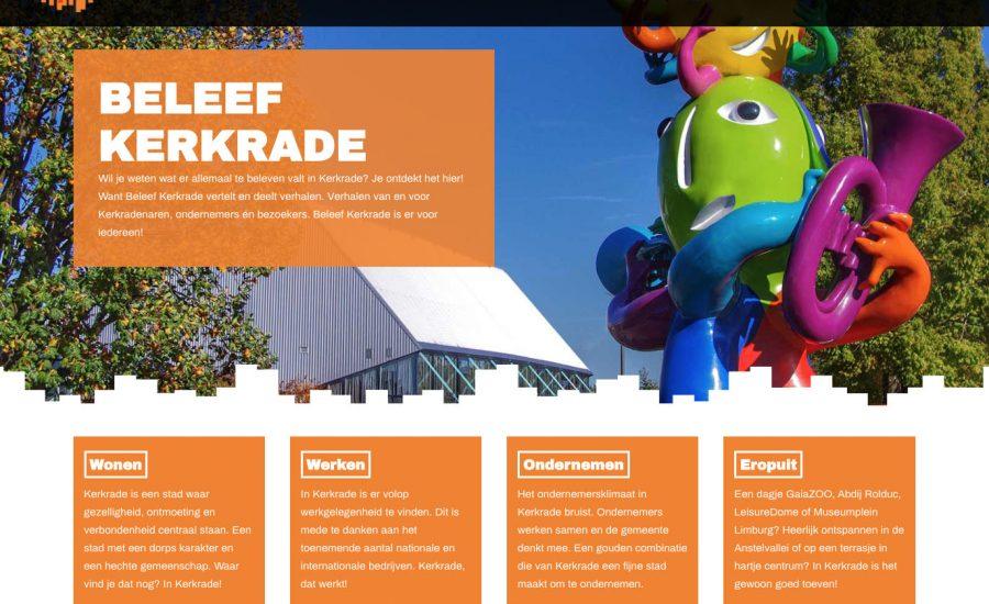 Beleef Kerkrade presenteert nieuwe website!