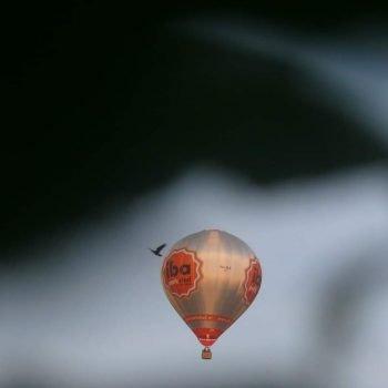 Luucht Ballon boven haanrade