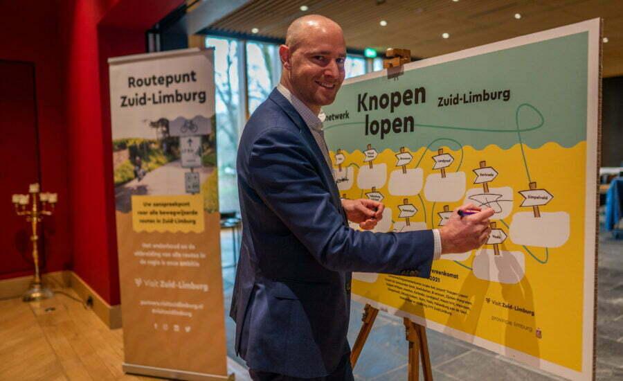 Kerkrade sluit aan bij gezamenlijk nieuw 'Knopen Lopen-wandelnetwerk' in Zuid-Limburg